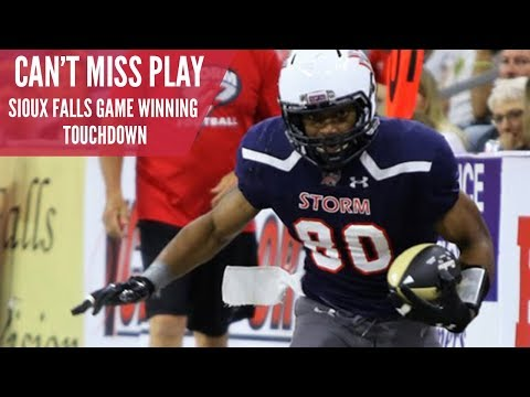 Top Play: Sioux Falls Storm Game Winning Touchdown