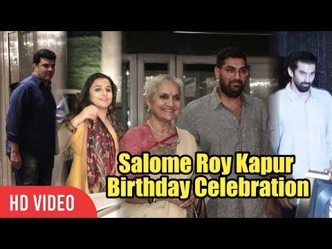 Salome Roy Kapur Birthday Celebration | Vidya Balan, Aditya Roy Kapur, Siddharth Roy Kapur
