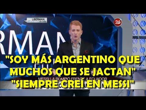 Liberman tras clasificación Argentina, se rinde ante Messi y le pega a colegas alcahuetes