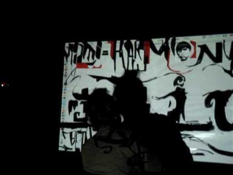 La Mano Fria Multimedia Live Art with Mihara Part3 at Harmony 2009.Feb