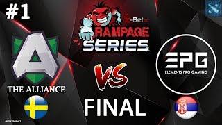 БХ в ГРАНД ФИНАЛЕ! | Alliance vs EPG #1 (BO5) | GRAND FINAL | X-Bet.co Rampage Series #2