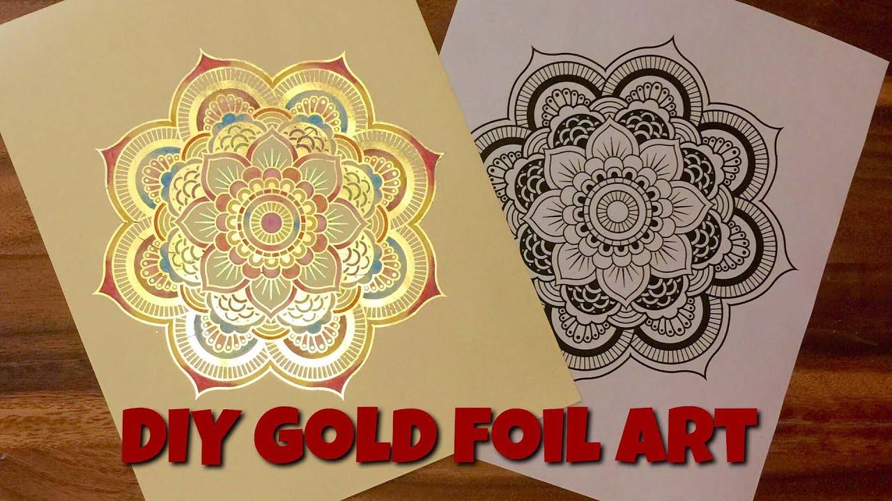 DIY Gold Foil Art