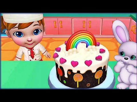 Зайка С Днем РОЖДЕНИЯ - Пекарня Готовим Торт | Игры для Девочек
