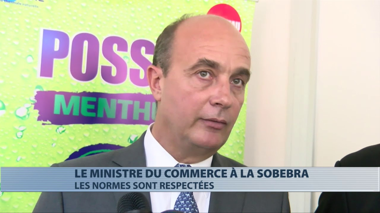 Le ministre du commerce en visite à la Sobebra