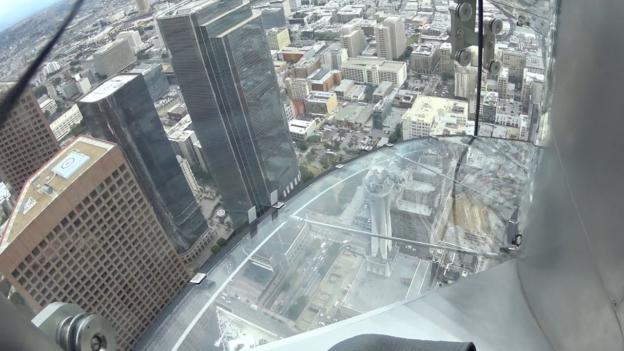 Super Fun Skyslide At Oue Skyspace Los Angeles Youtube