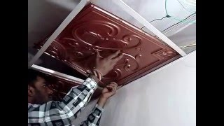 How to install Designer Ceiling Tile in Drop Ceiling
