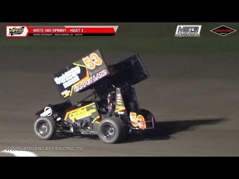 MSTS 360 Sprint Heats/Sportsman Feature - Rapid Speedway - 9/6/19
