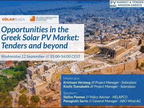 Greek Solar PV Market: Tender & Opportunities | Solarplaza Webinar
