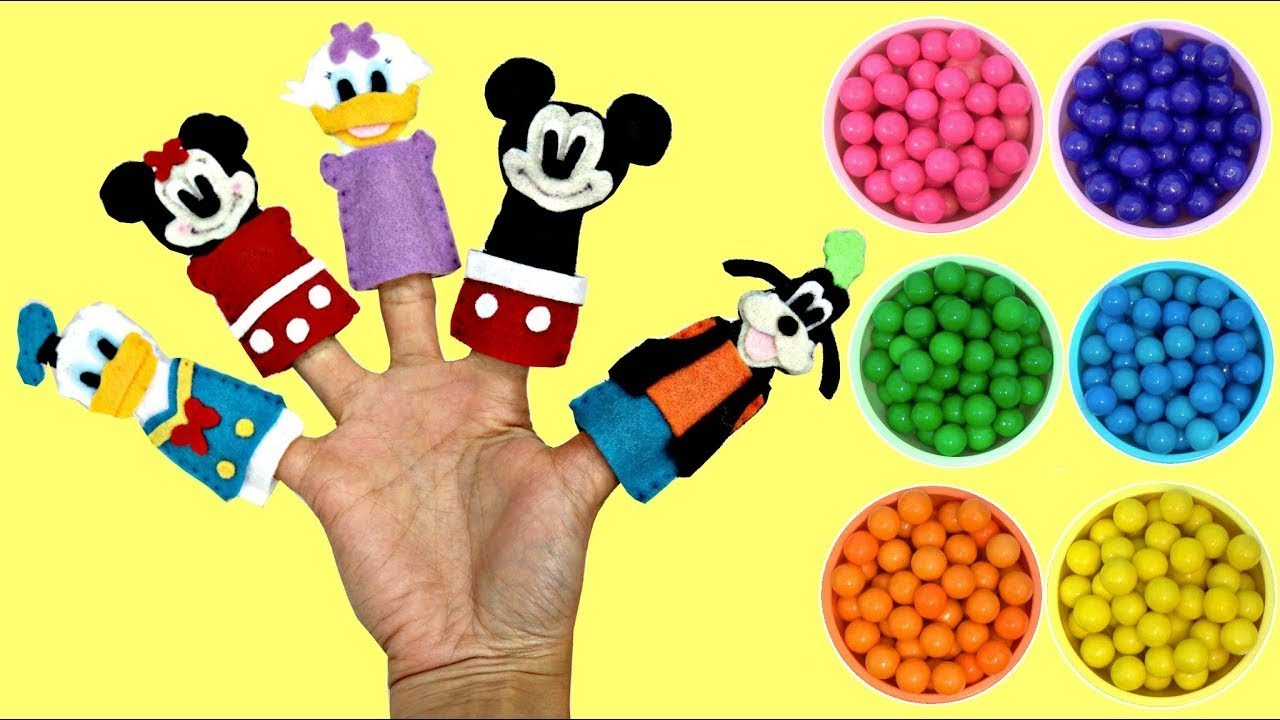 Download Learn Colors Singing Mickey Mouse Finger Family Song