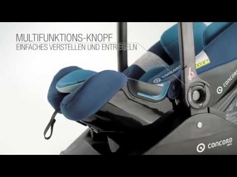 concord air safe babyschale isofix leicht youtube. Black Bedroom Furniture Sets. Home Design Ideas