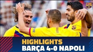 Barcelona 4-0 Napoli#Highlights football match
