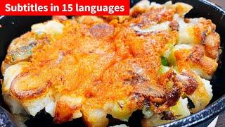 ネギとじゃが芋の焦がしチーズ焼き こっタソの自由気ままに【Kottaso Recipe】さんのレシピ書き起こし