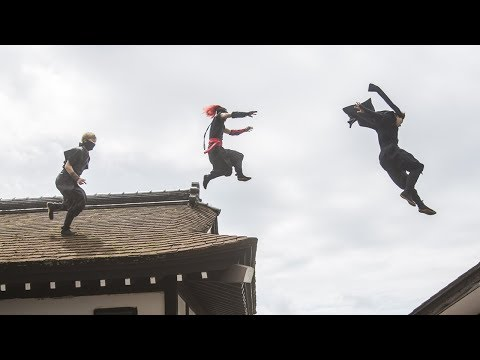 Shooting a NINJA-PARKOUR FILM