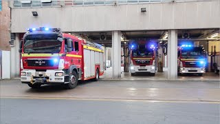 4 Fire Appliance Turnout - Rescue Pump, Turntable Ladder, Water Rescue Tender and Line Rescue