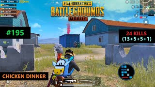 "PUBG MOBILE | INSANE ""24 KILLS"" SUPER INTENSE MATCH CHICKEN DINNER"