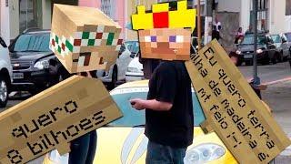 GÊNIO DA PLACA: MENINAS SÃO INTERESSEIRAS? Fiz o Teste Realizando Pedidos no Minecraft