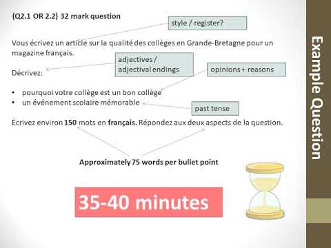 A level french writing help