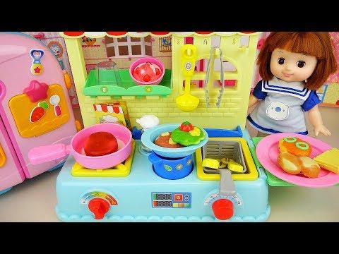 Ba Doll food cooking toys kitchen Ba Doli play