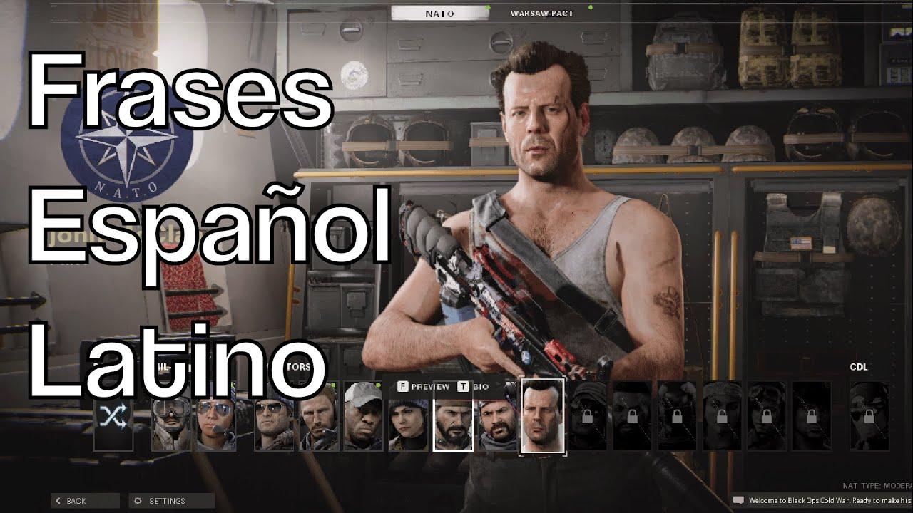 John McClane frases dialogos y voz en Call of Duty Warzone y Cold War en Español latino