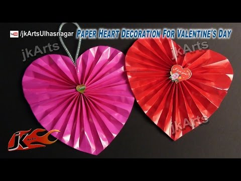 Paper heart decoration for Valentines, Wedding, or Anniversary | JK Arts 476