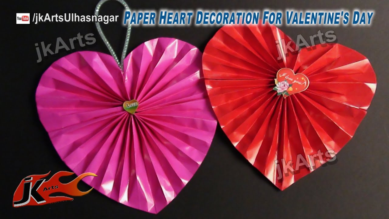 Paper Heart Decoration For Valentines Wedding Or Anniversary