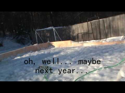 How To Make Backyard Ice Rink how to make a really even bigger ice rink in your own backyard, 2010