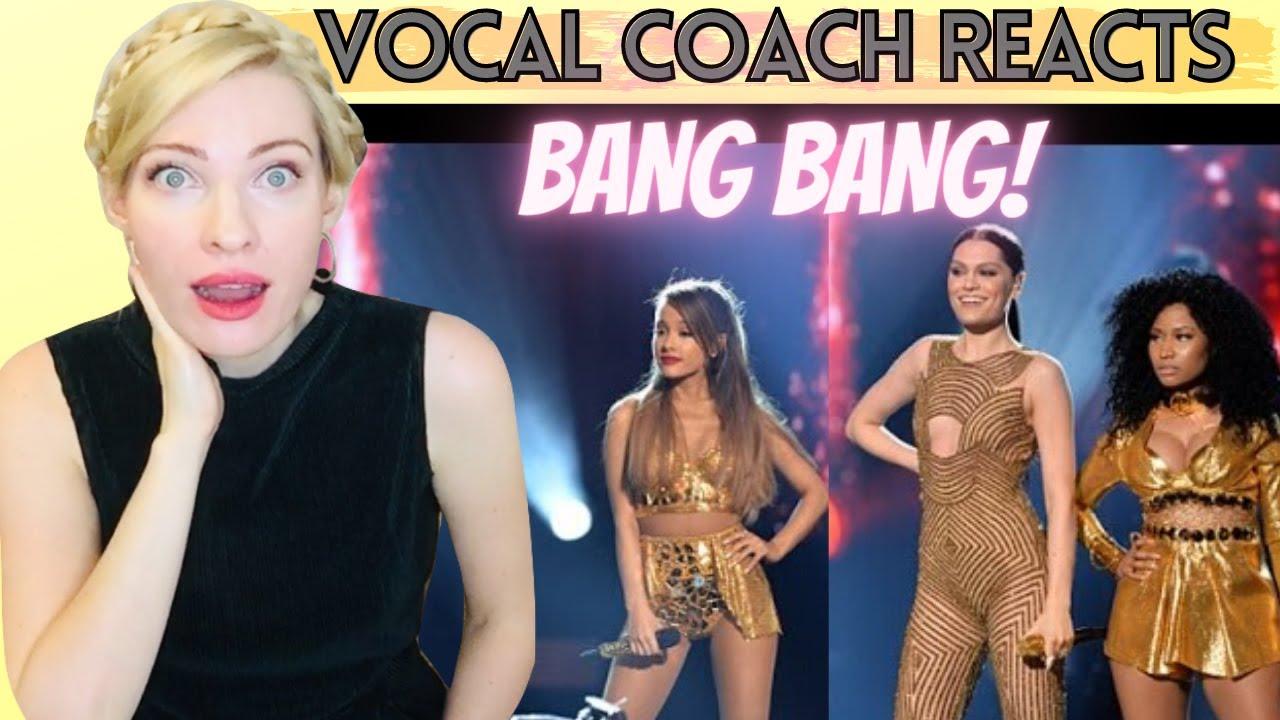 Vocal Coach Reacts: BANG BANG Live - Jessie J, Ariana Grande, Nicki Minaj! AMA's 2014
