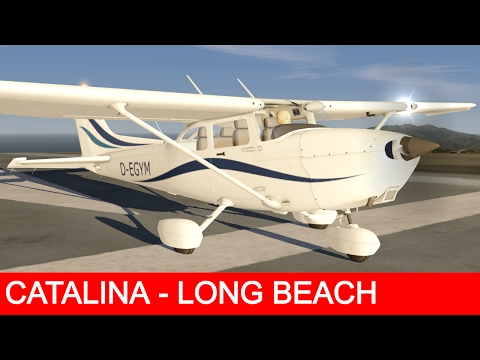 Aerofly 2 Flight Simulator - Cessna 172SP - Catalina to Long Beach [Stunning Graphics]