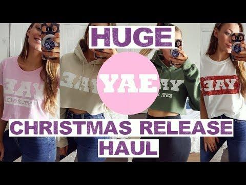 HUGE YAE CHRISTMAS RELEASE HAUL | MY CLOTHING LINE