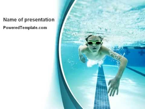 underwater picture of swimming pool powerpoint template by