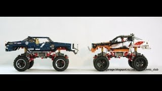 LEGO Technic 9398 & 41999 crawler INDOOR comparison
