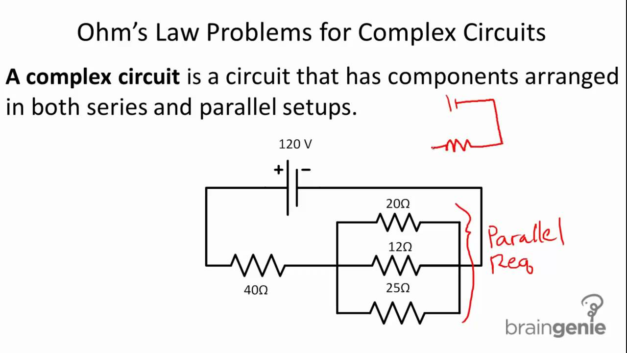 How To Solve Circuit Diagrams 1984 Toyota Pickup 4x4 Wiring Diagram Problems Physics 6 2 Ohm U0027s Law For Complex Circuits Youtubecircuit
