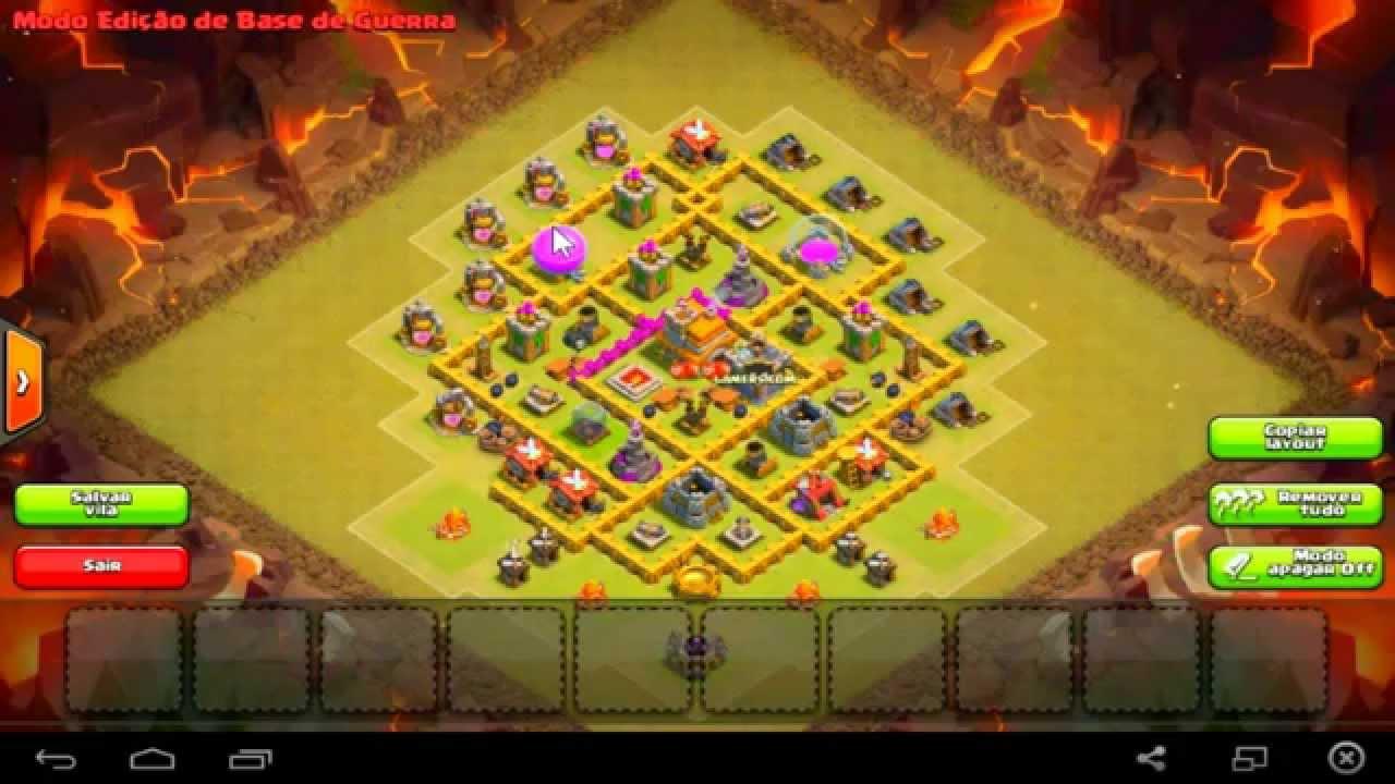 Layout Para Guerra de Clan cv7 - Clan War Base Town Hall 7