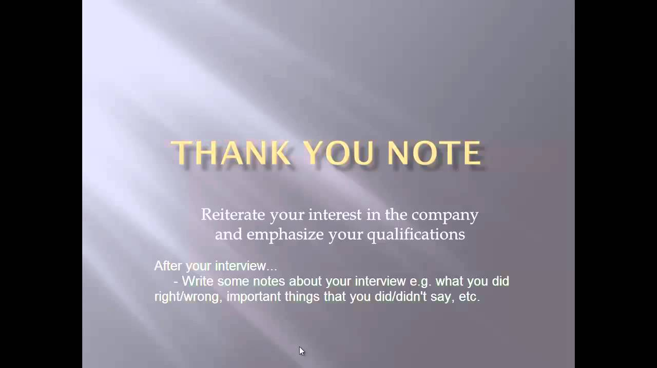 general thank you letter after interview