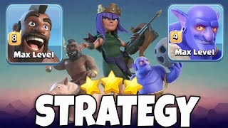 Th12 Max Hog With Max Bolwer Strategy | 3 Star War Attack TH12 Clash Of Clans