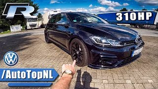 2018 VW GOLF R REVIEW POV On AUTOBAHN & FOREST ROADS By AutoTopNL