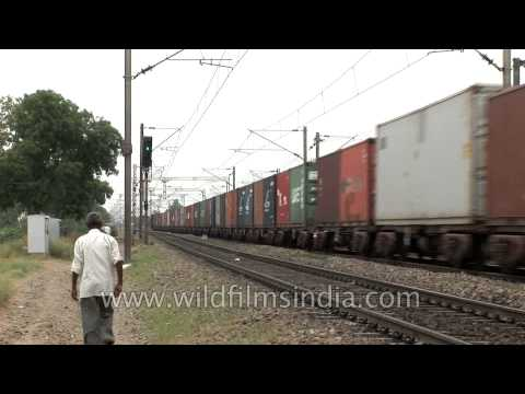 Train carrying goods