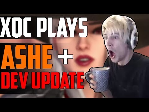 xQc PLAYS ASHE AND REACTS TO DEV UPDATE ft. Moxy