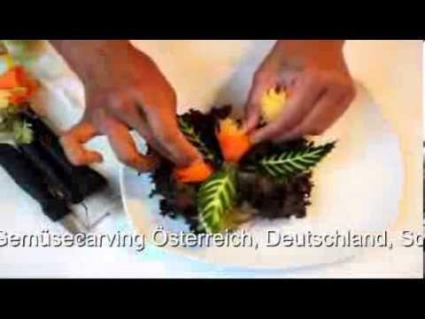 Gemüseschnitzen Einfache Dekorationen Vegetable Carving Von Alex
