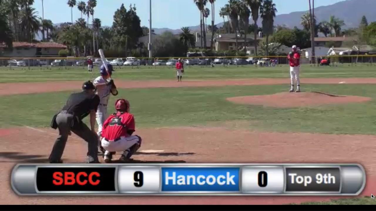 David Appleby Baseball Prospect Game Film (SBCC vs  Allen Hancock)