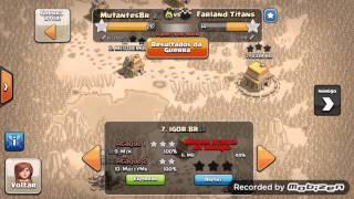 Clash Of Clans mais uma guerra vencida clan NV 2