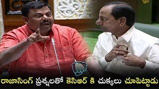 రాజాసింగ్ ప్రశ్నలతో కెసిఆర్ కి చుక్కలు చూపెట్టాడు | BJP MLA Raja Singh | Political Qube