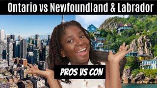 Living in Toronto vs Newfoundland| Pros vs Cons