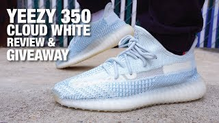 Adidas YEEZY Boost 350 V2 CLOUD WHITE Review & GIVEAWAY