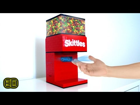 Lego Hand Detecting Skittles Machine