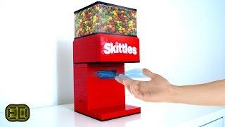 Lego Hand Detecting Skittles Machine