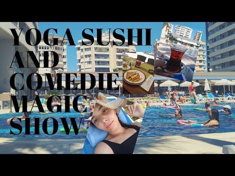 Porto Bello Hotel Antalya Turkey Spa Sushi Comedi Magic Show Lunch And Snakes Menu And More (EP4)
