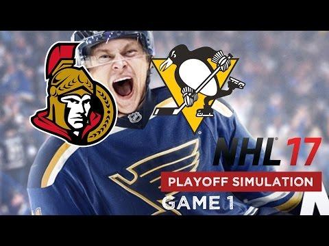 NHL 17 Playoff Simulation - Ottawa Senators @ Pittsburgh Penguins - Game 1