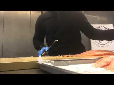 Smoked Salmon Slicing At Jackson's Fishmongers