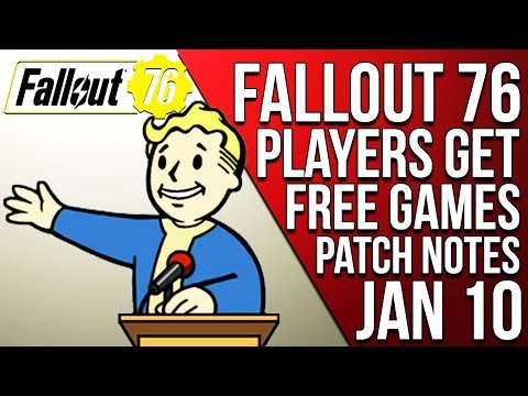 FALLOUT 76 PLAYERS GET FREE GAMES BY OUTER WORLD DEVELOPERS & PATCH NOTES JAN 10 - Fallout 76 News